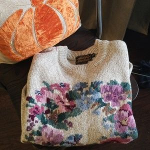 90s floral wool sweater